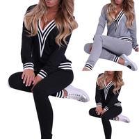 2 шт./компл. Для женщин спортивные костюмы большого размера плюс, спортивный костюм со свитером с капюшоном + Штаны комплект из двух предмето...