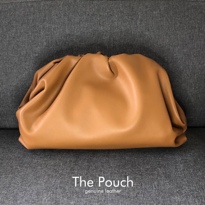 Fashion Famous Luxury Brand Style Women Bags The Pouch Cloud Bag Solid Handbag Split Leather Day Clutch Cowhide Quality