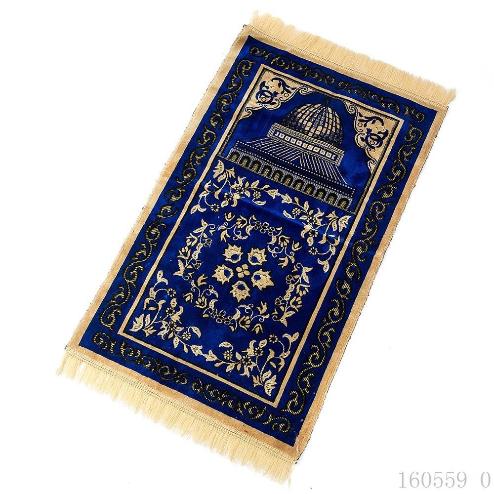 The Artificial Cashmere Muslim Mat 70x110cm Arab Islam Prayer Mat High-end Ceremony Blanket Worship Rug Dropshipping Carpet