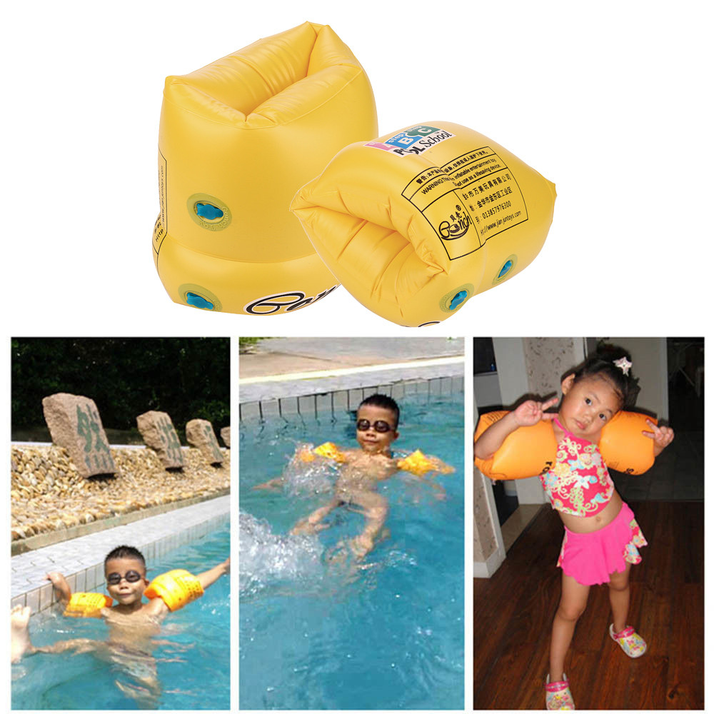 2Pcs Float Water Air Sleeves for Kids PVC Men Women Adult Child Safety Training Inflatable Swim Pool Swimming Arm Ring Circle