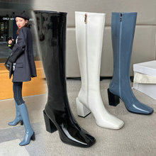 Woman Boots Chelsea-Shoes Knee Winter Warm Genuine-Leather Night-Club Party Autumn New