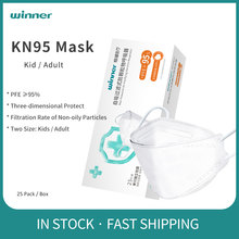 Winner ffp2 Mask KN95 Face Mask Protective Masks Filter Non-woven CE Certified Face Mouth Adult/Kid Mascarillas mascherine 25pcs