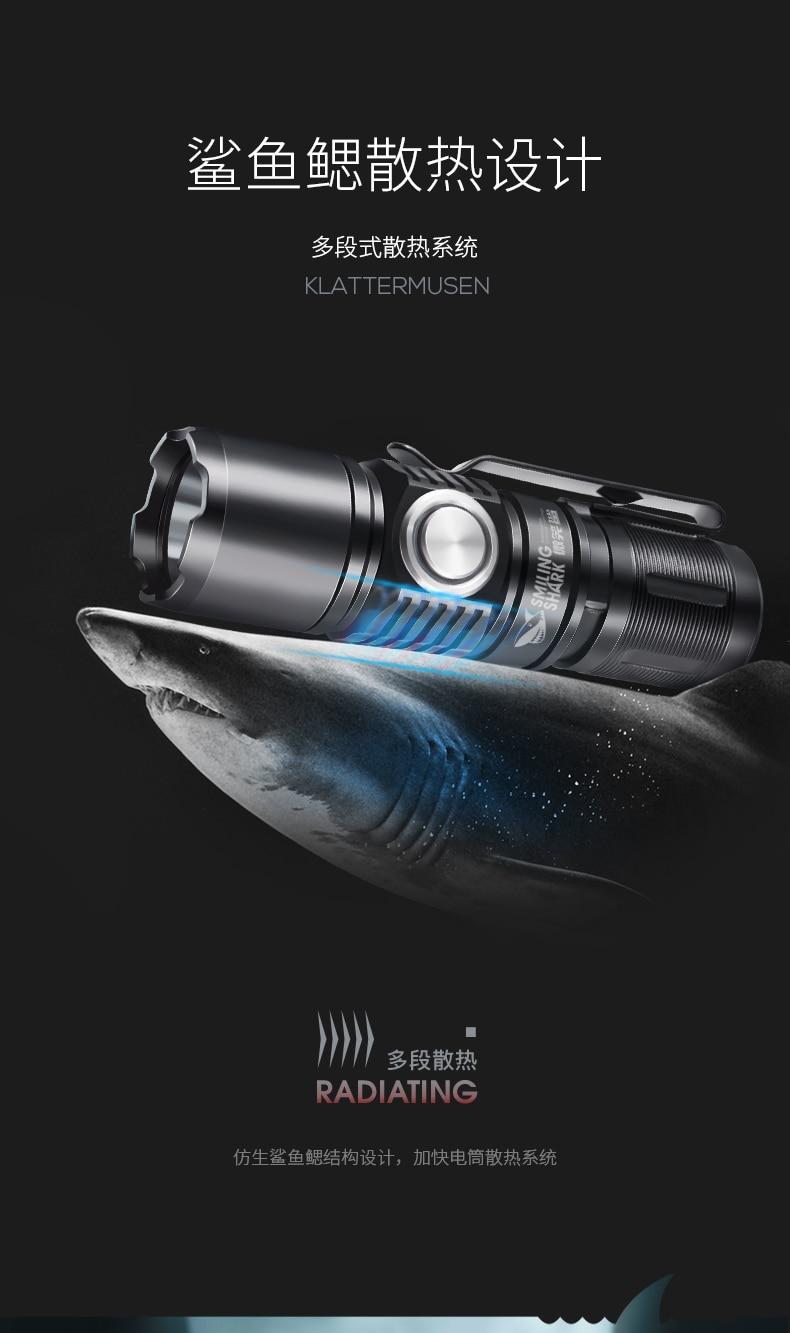 poderosa lanterna mini latarka led equipamentos ao ar livre bi50fl