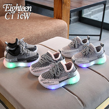 Size 21-30 Children Sport LED Shoes Girls Boys Antislip Running Glowing Sneakers Baby Toddler Breathable Shoes Luminous Sneakers cheap Eighteen CiieW 13-24m 25-36m 4-6y Mesh (Air mesh) CN(Origin) Four Seasons Lighted Anti-Slippery unisex Fits true to size take your normal size