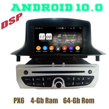 PX6 Android 10.0 Car GPS DVD Player for Renault Megane 3 III Fluence 2009 2010 2011 2012 2013 2014 2015 2016 with 4+64GB WIFI image