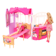 New Arrive Fashion Doll Accessories 126 Items/lot Toys For Kids = 1 Dollhouse + 15 Dolls Clothes +110 Doll Accessory For Barbie