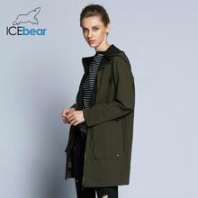 新しい女性トレンチコートの女性のファッションフルスリーブデザイン女性のコートの秋ブランドカジュアルコート ICEbear 2019 GWF18006D