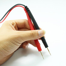 Universal Multimeter Tester Pen Head Line Detector Wire Fine Thin Metal Copper 1000V 10A Length 1.1 Meter L Type
