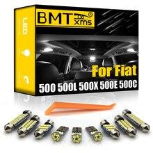 BMTxms – Kit d'éclairage intérieur de voiture, pour Fiat 500 500L 500X 500E 500C 2007 – 2018, Canbus, accessoires d'éclairage de voiture