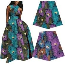 100% хлопок Анкара печать батик ткань настоящий голландский воск ткань лучшее качество Африканского дизайнера швейные материал для женщины платье 6yards