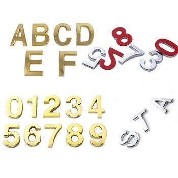 Samoprzylepne znaki numeryczne i litery alfabetu angielskiego numer domu hotelowego płyta drzwi stół ogród skrzynka pocztowa numery naklejek tanie i dobre opinie Z tworzywa sztucznego Number Sticker Door Plates Self Adhesive 0-9Number Signs Plastic English Alphabet Letters DIY Door Plate