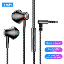 цена на F20 Wired In Ear Earphones Bass Headset Elbow Plug for Mobile Gaming Movie Music Sports Travel with Microphone and Wire control