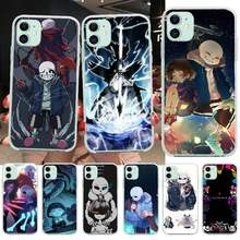 NBDRUICAI Undertale Game Art Cassa Del Telefono per il iPhone 11 pro XS MAX 8 7 6 6S Plus X 5S SE XR copertura(China)