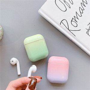 Image 5 - יוקרה שיפוע מקרה עבור אפל Airpods חמוד קשיח אוזניות מקרה תיבת אופנה חמוד Bluetooth אוזניות כיסוי עבור אוויר תרמילי 2 funda