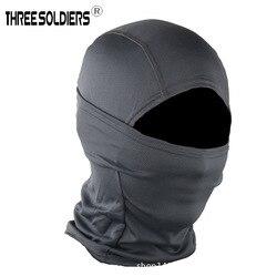 Outdoor Taktis Single Bore Ninja Masker Mendaki Gunung Berkuda Bernapas Tahan Sinar Matahari Pasir Tahan Kepala Band CS Perlindungan equ