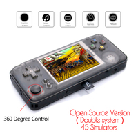 RS97 Plus Double system Retro Game Console 40 Emulators 64bit 3.0inch Portable Handheld Game Player 360 Degree controller 32G TF