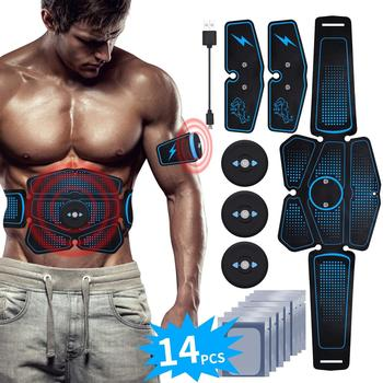 Abs Stimulator Training Belt EMS Abdominal Muscle Trainer USB Electrostimulator Fitness Equipment Toner Home Gym Exercise electric training machine abdominal arm muscle trainer usb rechargeable electrostimulator muscular exercise gym equipment home