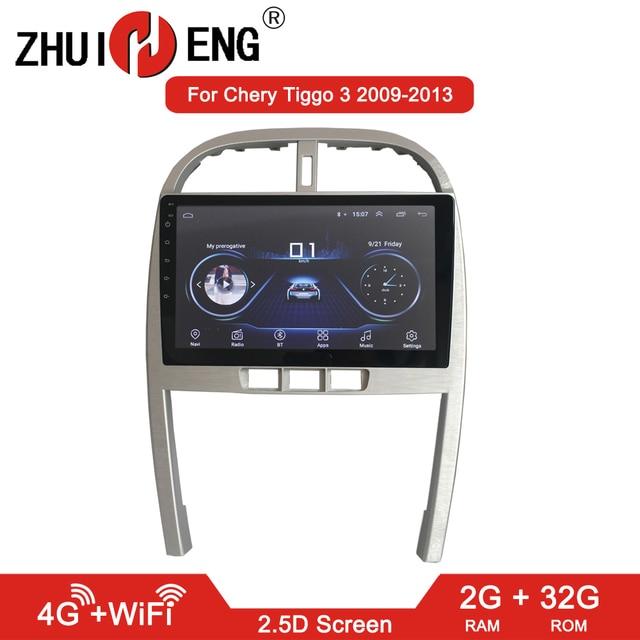 ZHUIHENG 2G+32G Android 8.1 Car Radio for Chery Tiggo 3 2009 2013 car dvd player gps navi car accessories 4G multimedia player