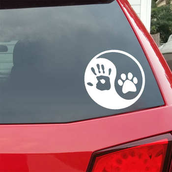 Dog Hand Car Sticker 2