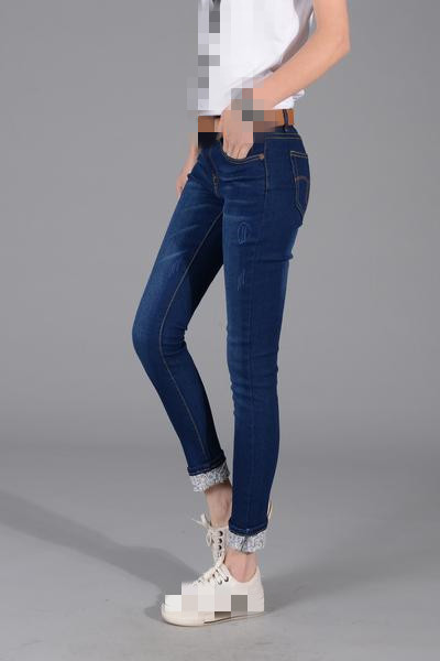 B1304 2020 new spring autumn big size couture show thin waist Women's elastic cultivate one's morality small straight long jeans
