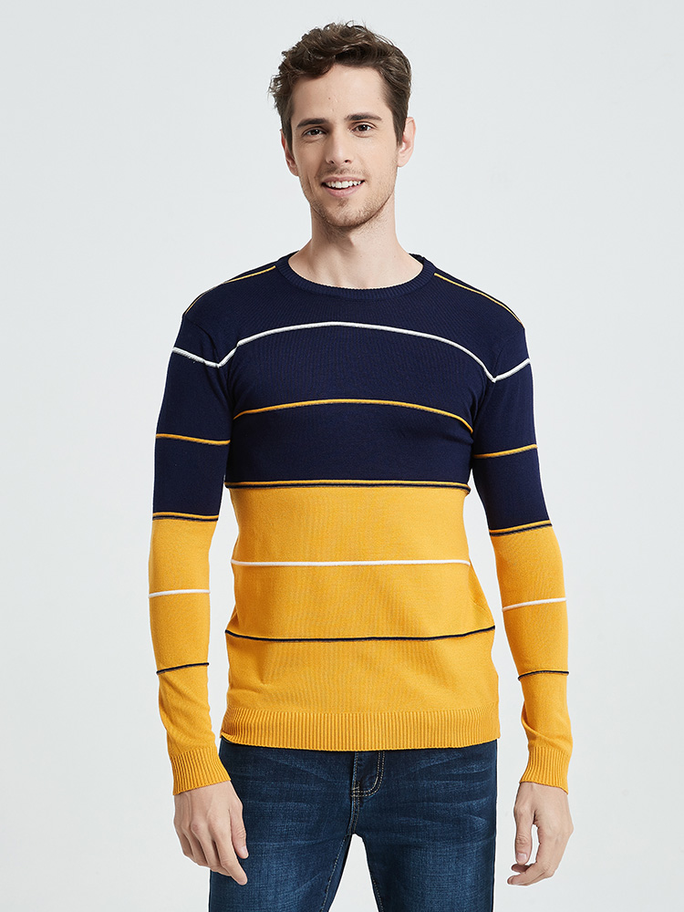 Pullover Men Jersey Sweaters Knitwear Winter Cotton COODRONY Autumn Casual O-Neck C1012