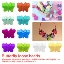 Let's make 5PC Mini Butterfly Silicone Beads Eco-friendly Sensory Teething Necklace Food Grade Mom N