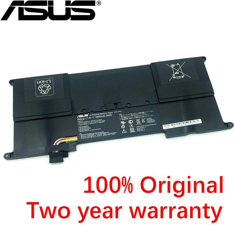 ASUS New Original 4800mAh C23-UX21 C23UX21 Laptop Battery For Asus Zenbook UX21 UX21A UX21E C23-UX21 Ultrabook Series 7.4V 35Wh