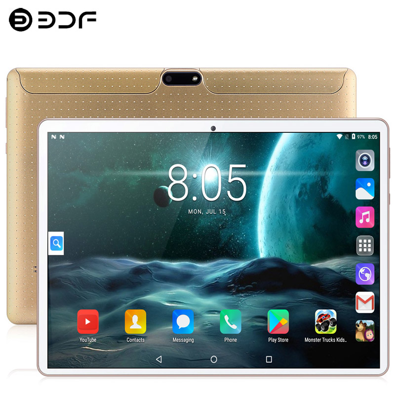 10.1 Inch Tablets PC Android 9.0 3G/4G Phone Call Ten Core 8GB RAM 128GB Dual SIM 5.0MP GPS Bluetooth Wi-Fi Tablet PC+keyboard