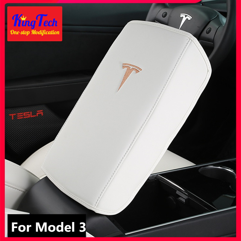 Armrest Box Protective Leather Cover For Tesla Model 3 Central Control Armrest Pad Car Interior Refitted Accessories
