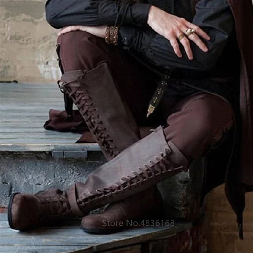 Medieval-Costume-Men-Knight-Boots-Viking-Cosplay-Larp-Shoes-PU-Leather-Warrior-Women-Cosplay-Fancy-Boot (3)