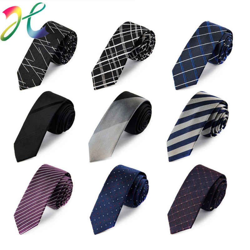 Top Grade Neck Tie High Quality Men Wedding 5 CM Skinny Cotton Ties Business Dot Striped Plaid Necktie Neckwear
