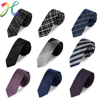 цена на Top grade Neck Tie High Quality Men Wedding 5 CM Skinny Cotton Ties Business Dot Striped Plaid Necktie Neckwear