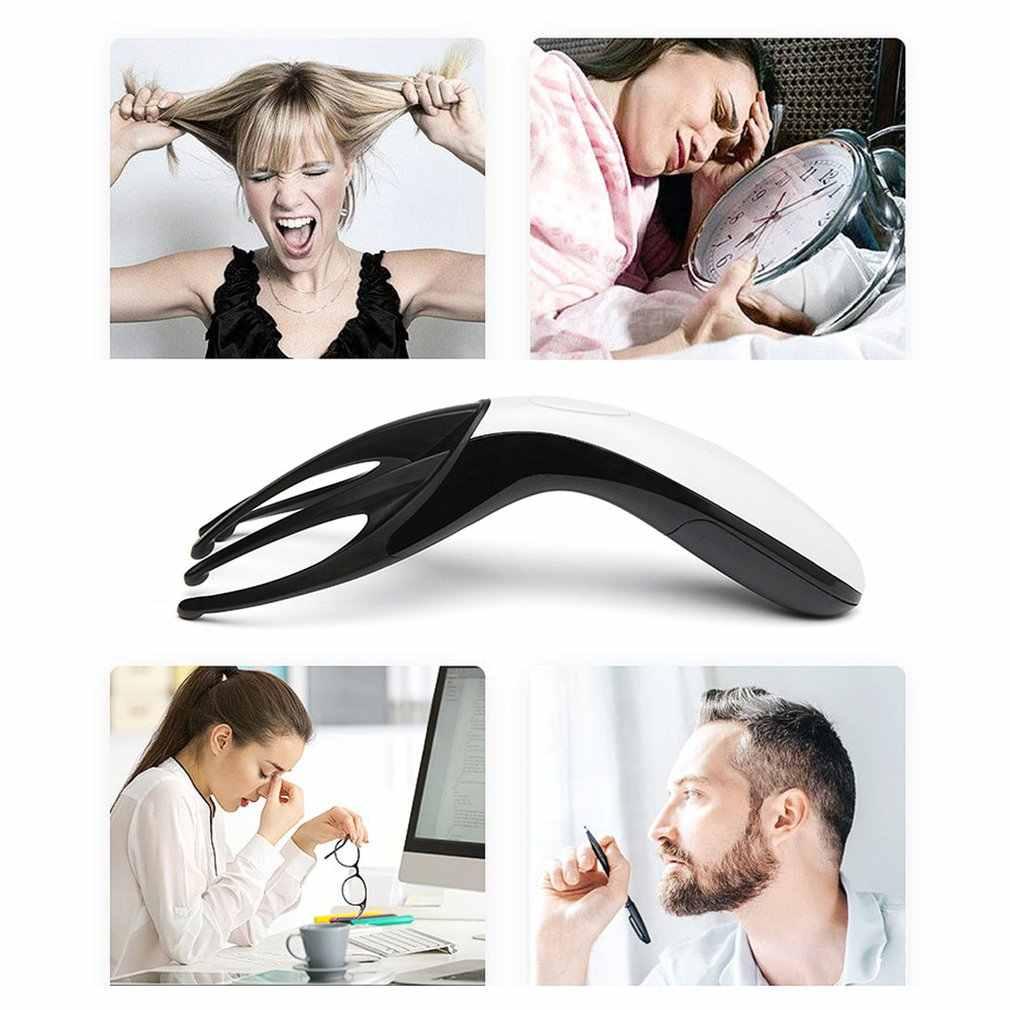 Creative Battery Head Mini Massager Multi-Function Vibration Massager Head Electric Portable Massage Comb