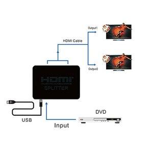 Image 5 - Larryjoe HDCP 4K HDMI Splitter Full HD 1080p Video HDMI Switch Switcher 1X2 Split 1 in 2 Out Versterker Dual Display Voor HDTV DVD
