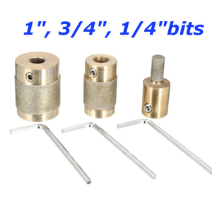 Image 4 - 1/4 3/4 1 Inch Stained Glass Grinder Head High Hardness Metal Stone Polished Tools for Grinding Machine 3pcs Grinding Bits Set