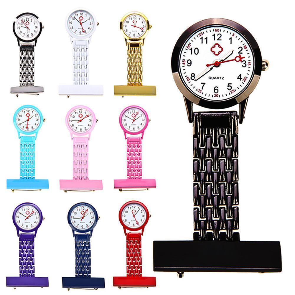 Women Girl Stylish Metal Quartz Analog Brooch Medical Nurse Fob Watch Gift nurse watch watch
