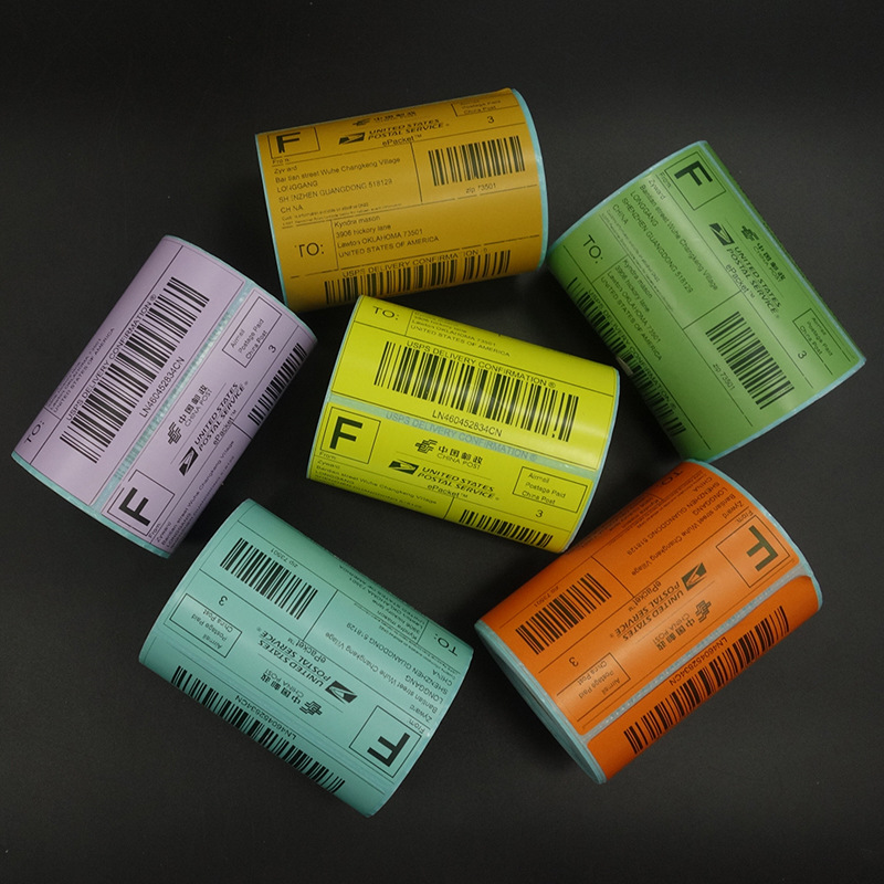 E Mail Treasure Label Paper 100*100 Color Thermal Bar Code Paper Cross Border Express Triple Protection Label Paper 100X100