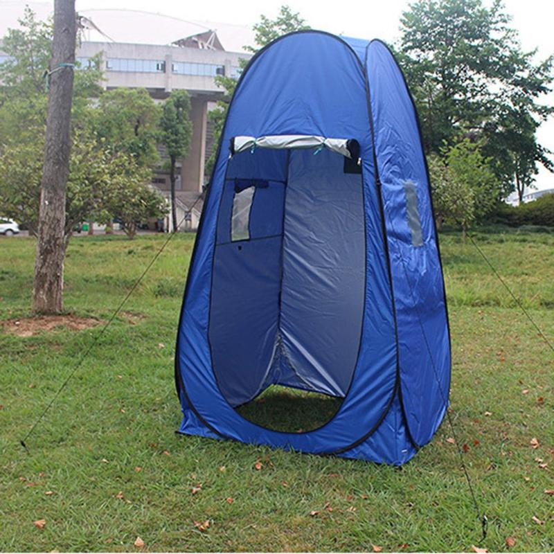 Outdoor Shower Bath Tent PU Waterproof Changing Fitting Room Camping Shelter Beach Privacy Toilet Tent For Camping