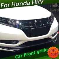 H-RV HRV VEZEL 자동차 랩터 그릴 프론트 커버 스포츠 스타일 크롬 블랙 용 프론트 레이싱 그릴 그릴 스타일링