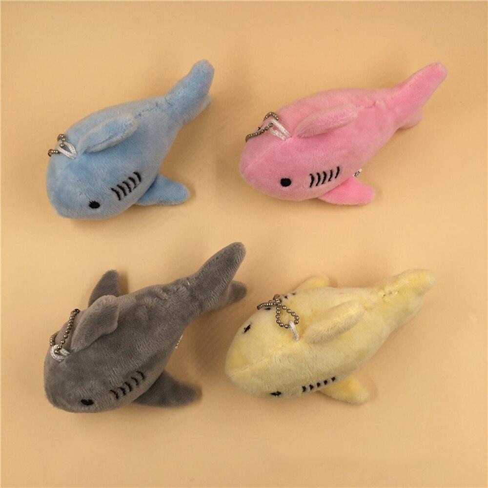 Plush Keychains Shark Plush Stuffed TOY Doll , Mini Small Ocean Animal Key Chain Pendant Plush Toys , BABY Gift Plush DOLL  Kids