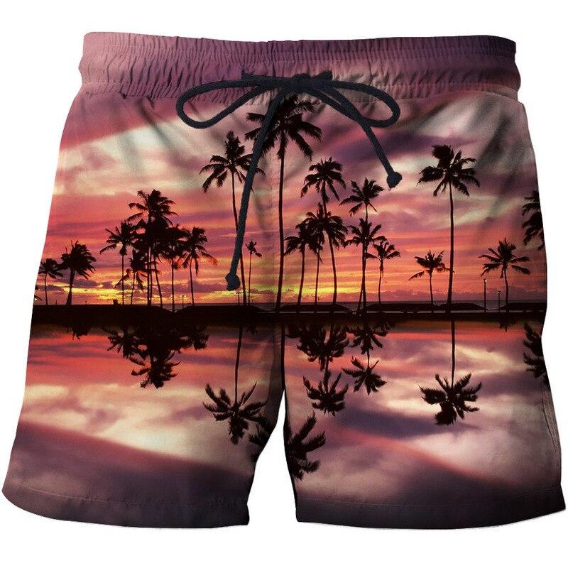 2020 New Summer Beach Shorts Fashion Men's Beachwear Cool Board Shorts Quick Dry 3D Print Watersport Swim Trunks S-6XL