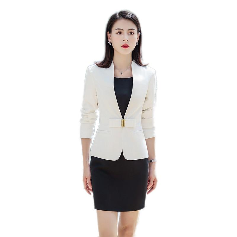 Brown Formal Dress Blazer Women Dresses with Jacket Women's Dress Suit Set Office Wear Work for Ladies Evening Elegant Costumes