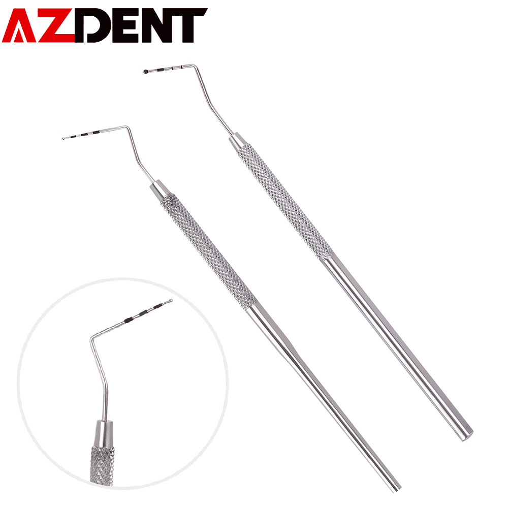 Stainless Steel Periodontal Probe Implant Periodontal Probe With Graduated Root Canal Probe