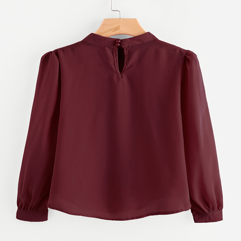 White Blouses Womens Tops Blouses Shirt Blouse Workwear Shirts Tops Casual Ladies Chiffon Summer Long Sleeve Women Blouses