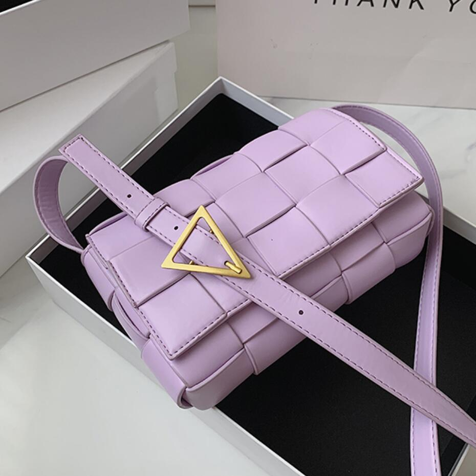 Woven Square Crossbody Bag 2020 Fashion New High Quality PU Leather Women's Designer Handbag Solid Color Shoulder Messenger Bag