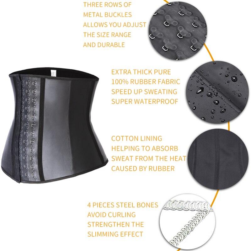 Mens Latex Waist Trainer Sweat Slim Modeling Belt Sauna Effect Belly Shapers Slimming Cincher Body Shaper Tummy Shapewear Corset in Shapers from Underwear Sleepwears