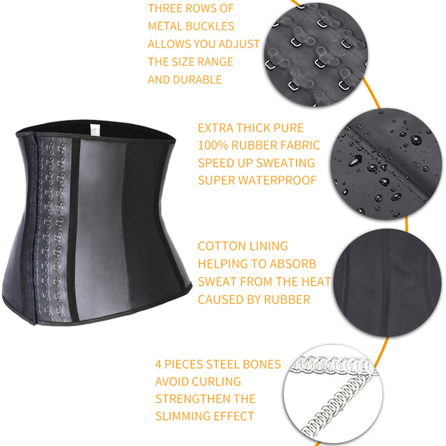Mens Latex Waist Trainer Sweat Slim Modeling Belt Sauna Effect Belly Shapers Slimming Cincher Body Shaper Tummy Shapewear Corset 2