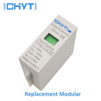 цена на ICHTYI High quality SPD replace modular AC 275V 385V 420V surge protector lightning protection surge arrester
