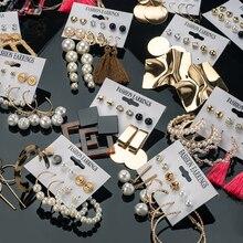 X&P New Bohemian Tassel Earrings Vintage Long Earrings For Women statement Acrylic Fashion Geometry Earrings 2021 Trend Jewelry