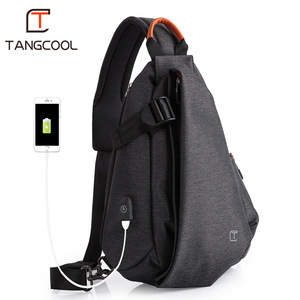Image 1 - Tangcool Brand Design Fashion Unisex Men Leisure Messenger Bags s Cross Body Bags Leisure Chest Pack Shoulder Bags for Ipad